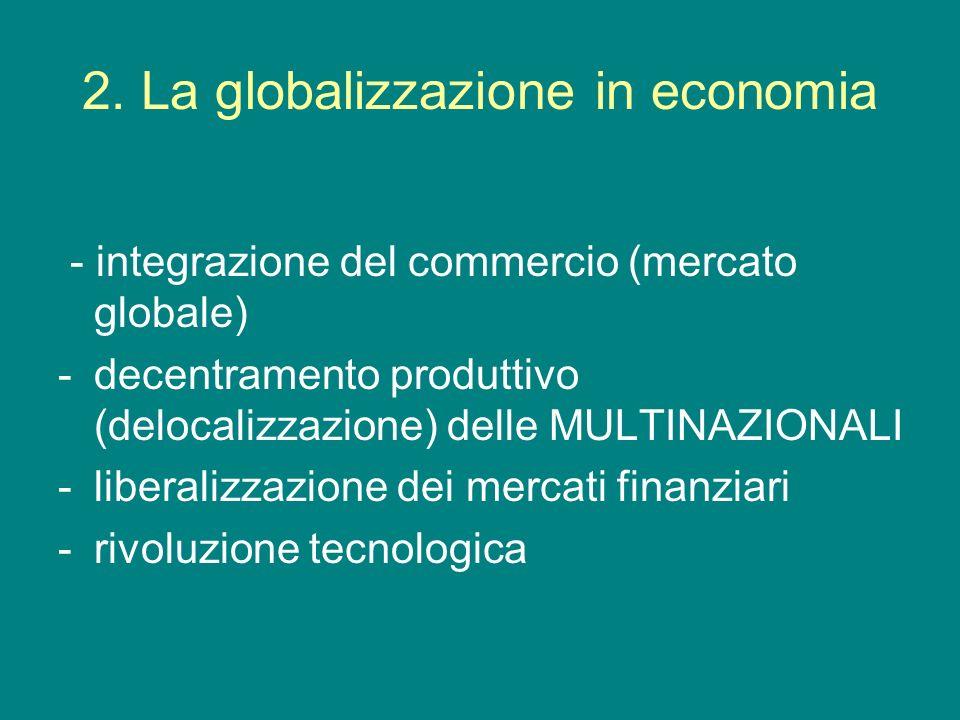 2. La globalizzazione in economia