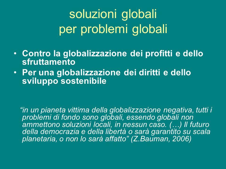 soluzioni globali per problemi globali