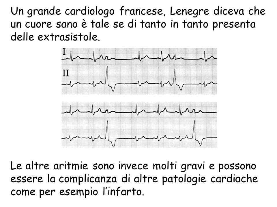 Un grande cardiologo francese, Lenegre diceva che un cuore sano è tale se di tanto in tanto presenta delle extrasistole.