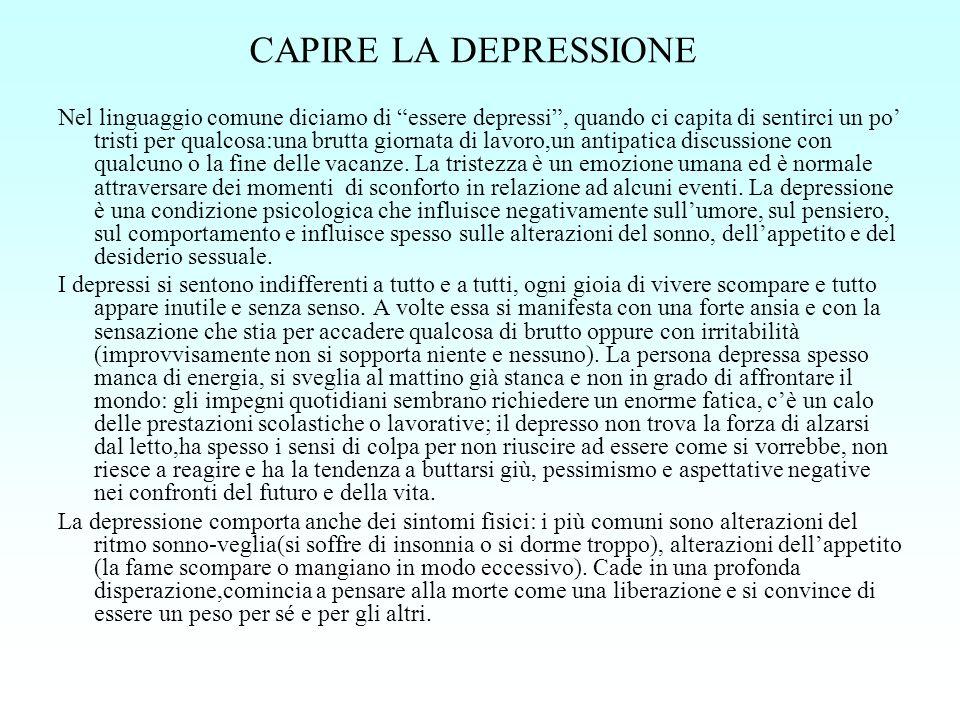 CAPIRE LA DEPRESSIONE