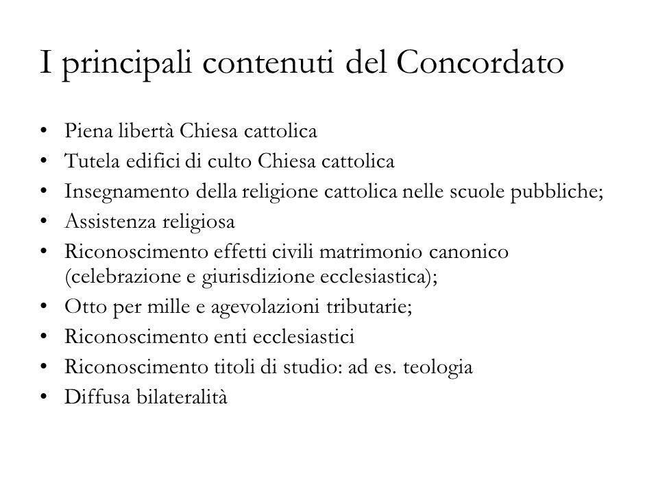 I principali contenuti del Concordato
