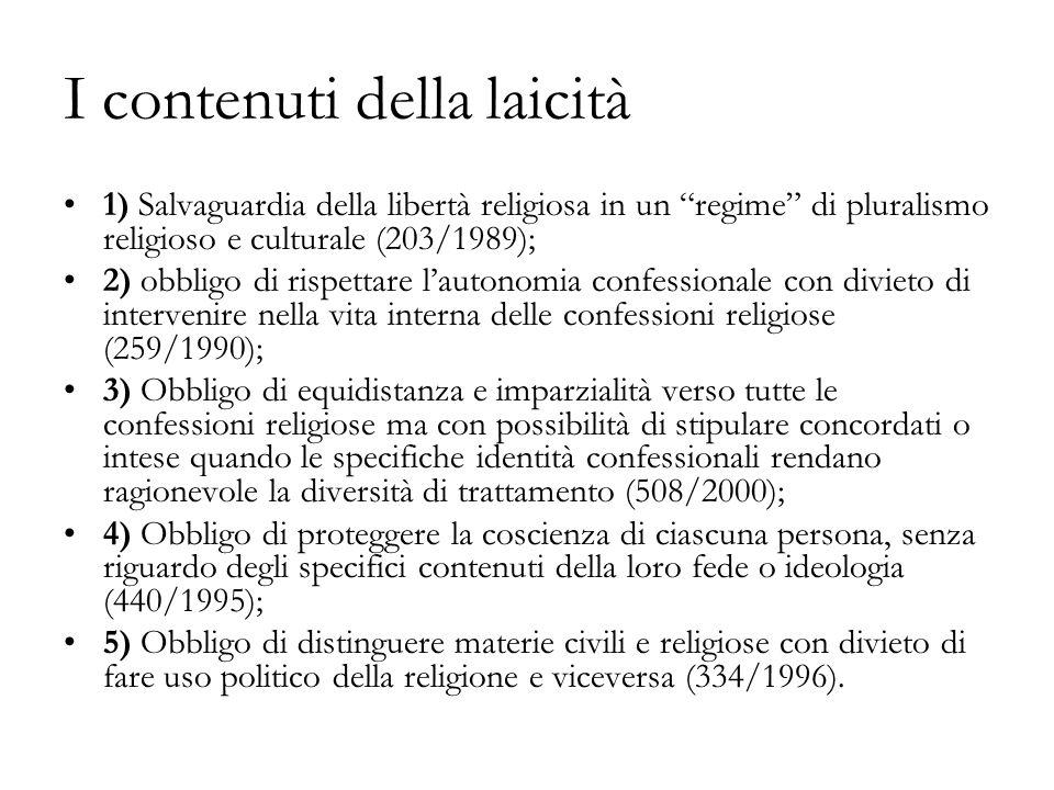 I contenuti della laicità