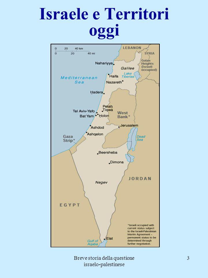 Israele e Territori oggi