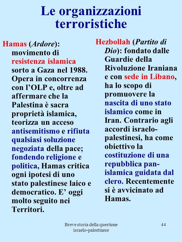 Le organizzazioni terroristiche