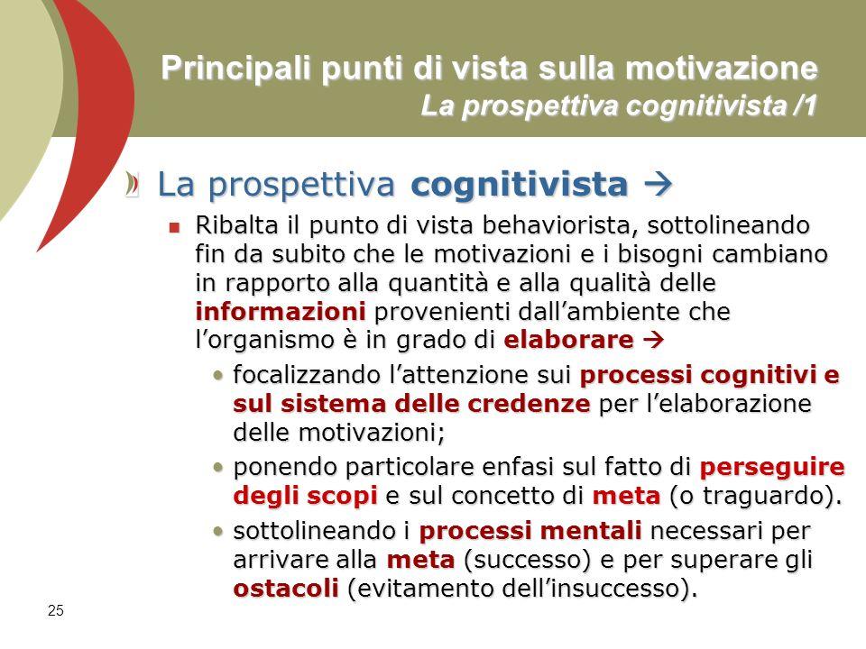 La prospettiva cognitivista 