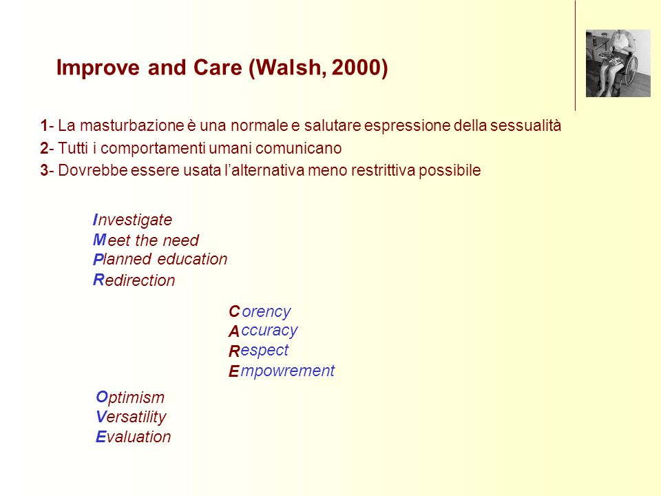 Improve and Care (Walsh, 2000)
