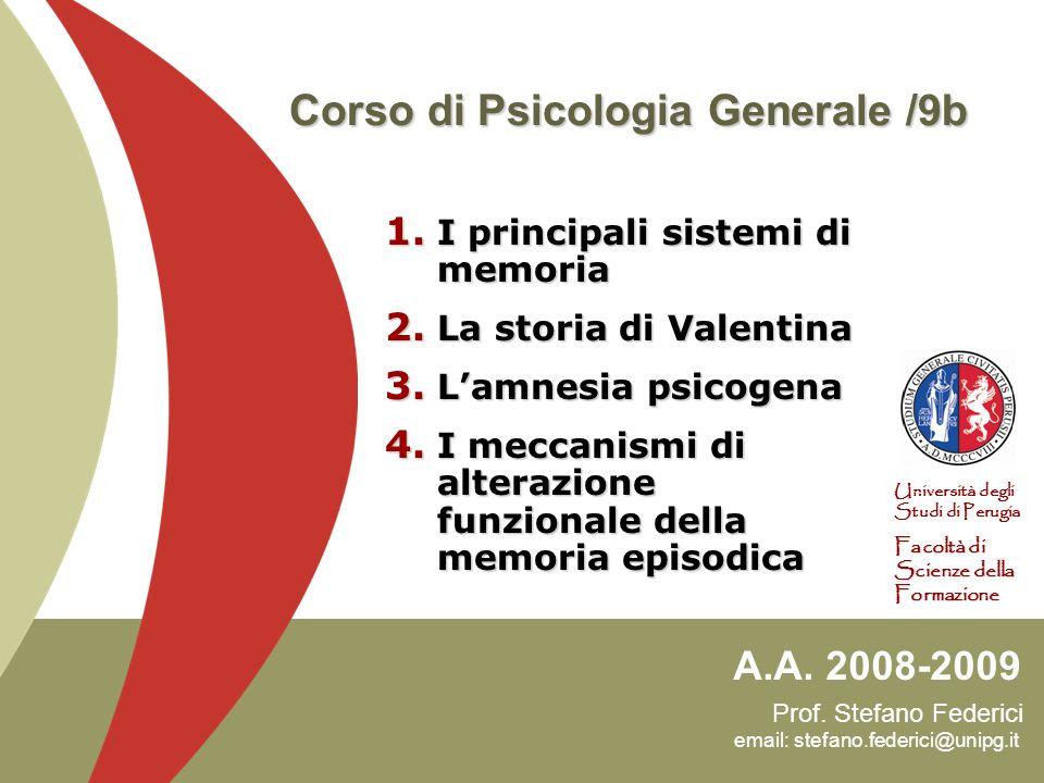 Corso di Psicologia Generale /9b