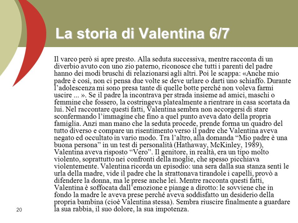 La storia di Valentina 6/7