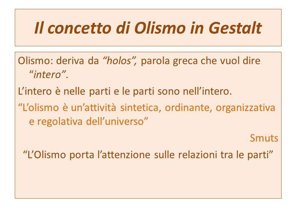 Il concetto di Olismo in Gestalt