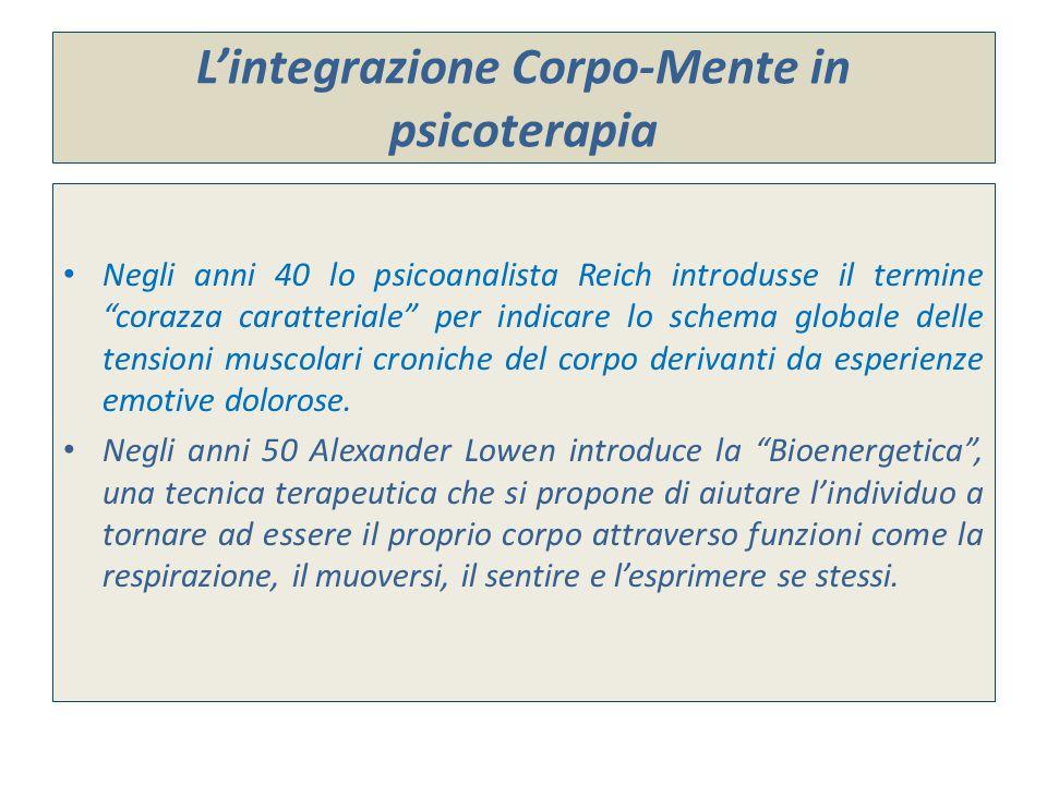 L'integrazione Corpo-Mente in psicoterapia