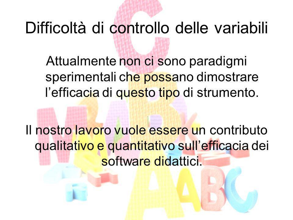 Difficoltà di controllo delle variabili