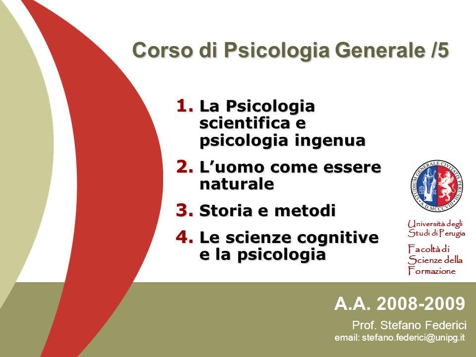Corso di Psicologia Generale /5