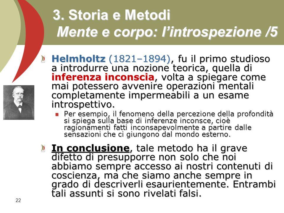 3. Storia e Metodi Mente e corpo: l'introspezione /5