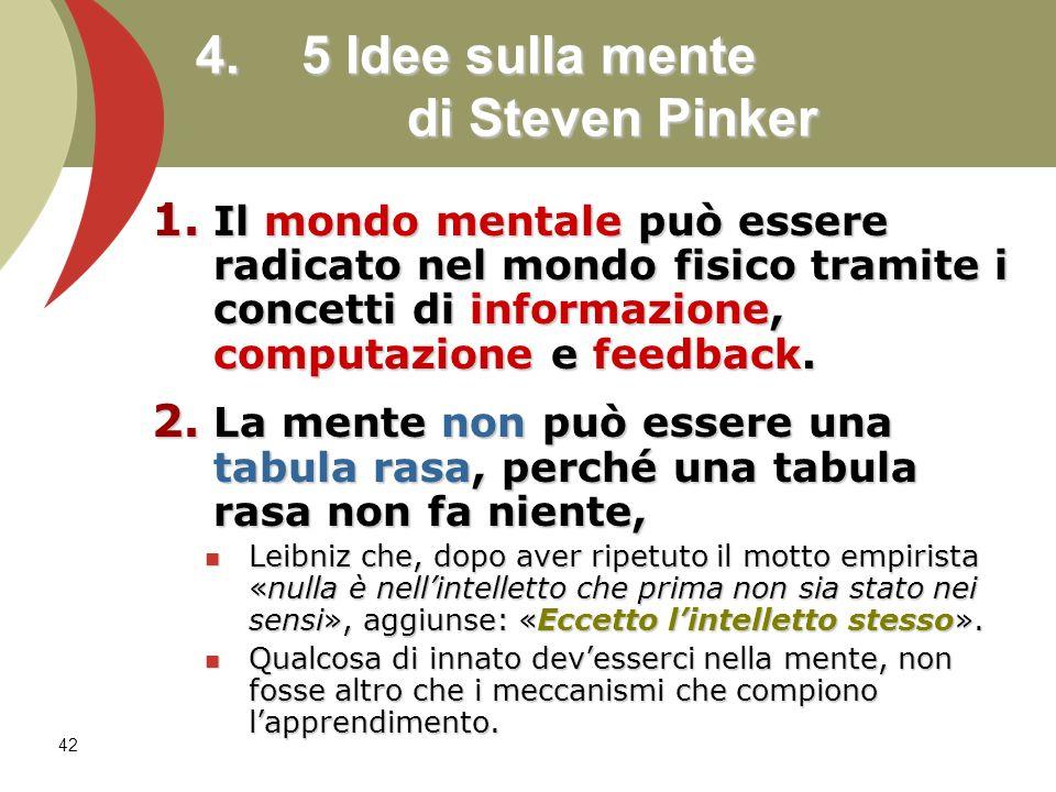 4. 5 Idee sulla mente di Steven Pinker