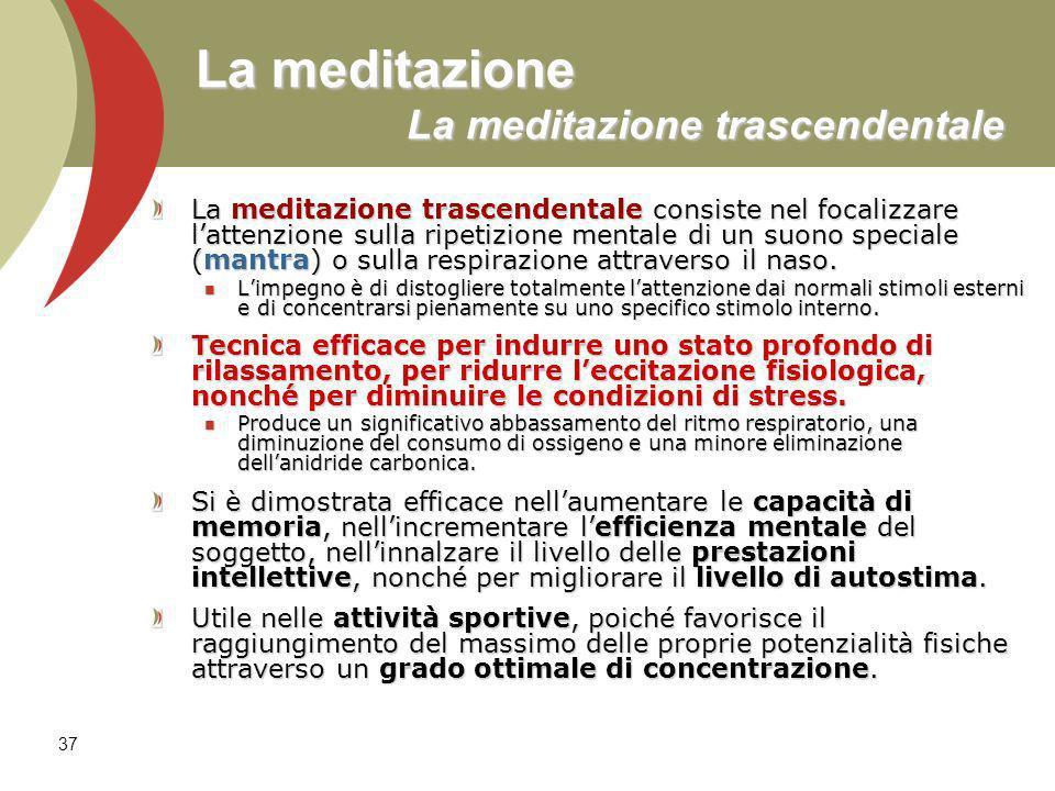 La meditazione La meditazione trascendentale