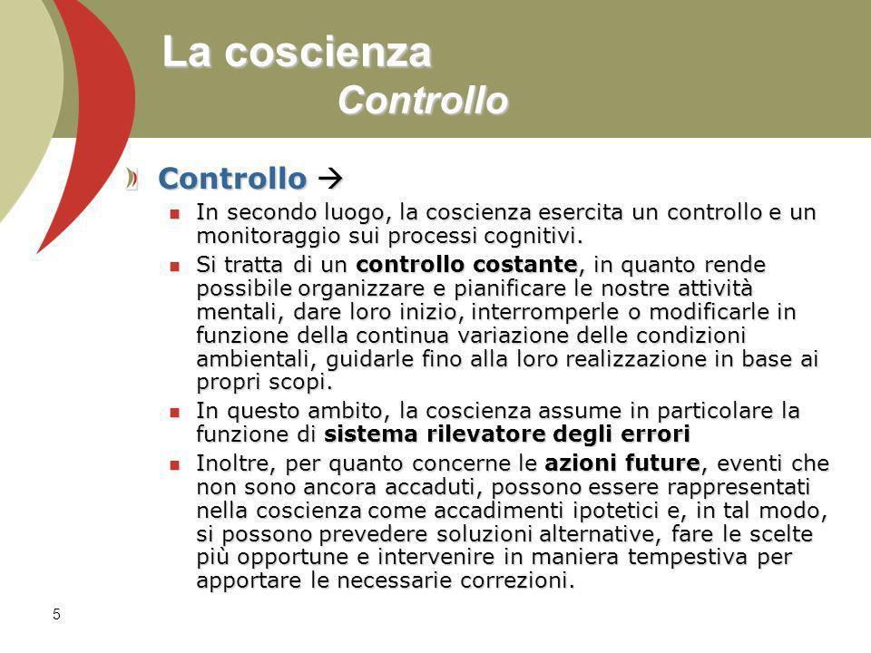 La coscienza Controllo