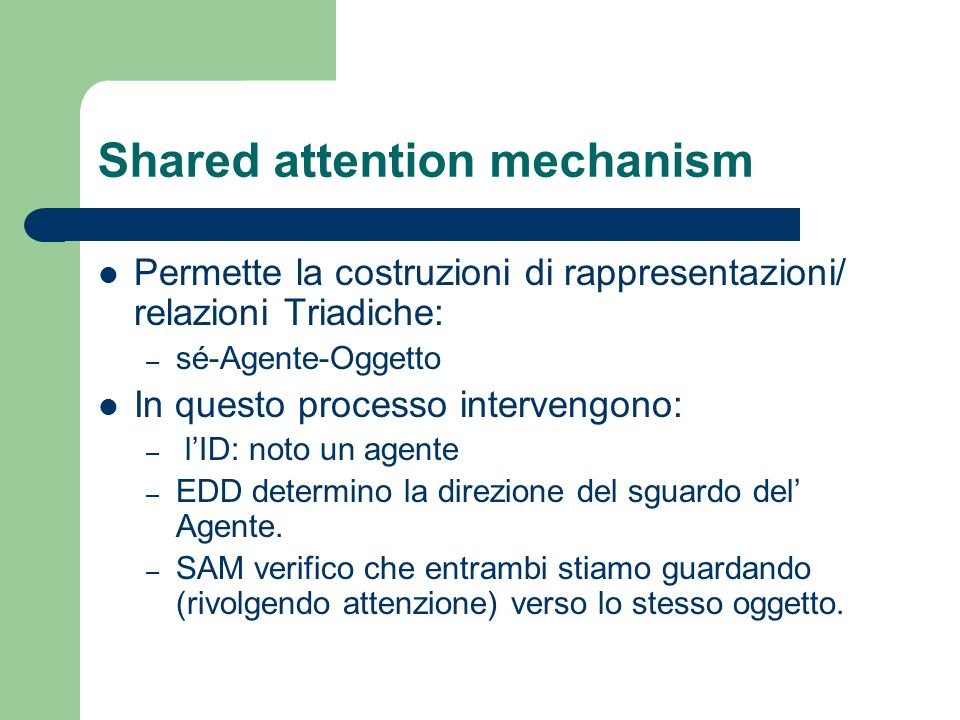 Shared attention mechanism