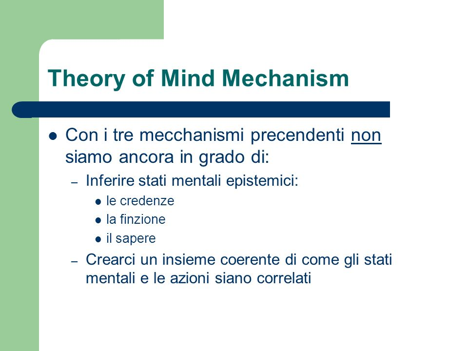 Theory of Mind Mechanism
