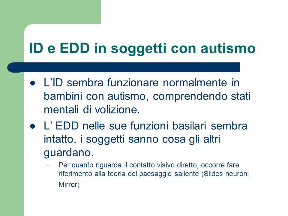ID e EDD in soggetti con autismo