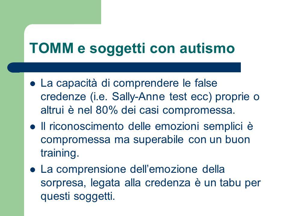 TOMM e soggetti con autismo