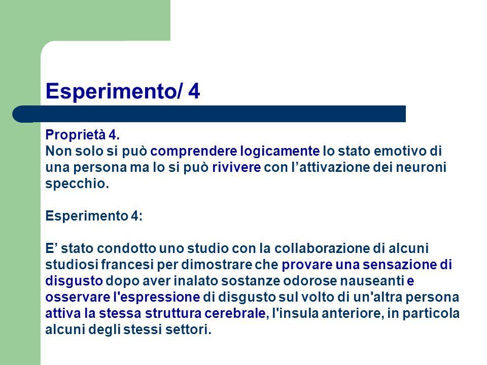 Esperimento/ 4 Proprietà 4.