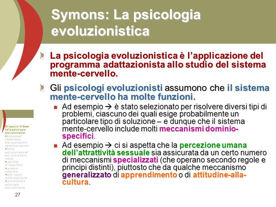 Symons: La psicologia evoluzionistica