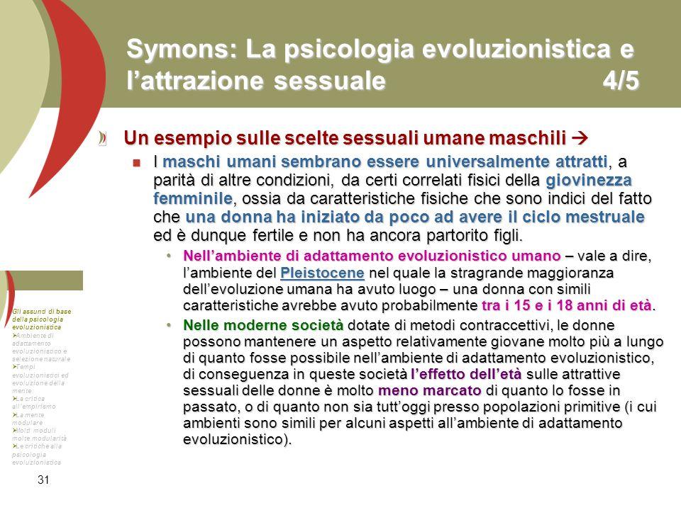 Symons: La psicologia evoluzionistica e l'attrazione sessuale 4/5
