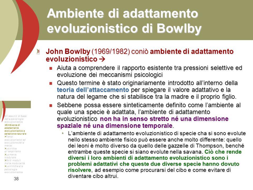 Ambiente di adattamento evoluzionistico di Bowlby