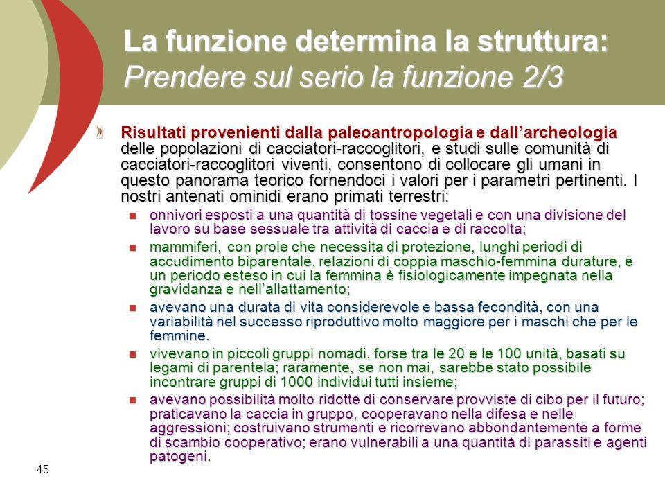La funzione determina la struttura: Prendere sul serio la funzione 2/3