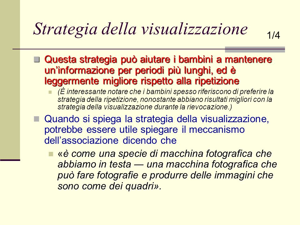 Strategia della visualizzazione