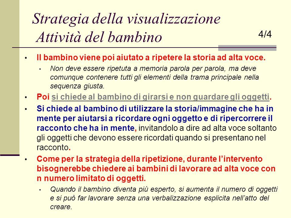 Strategia della visualizzazione Attività del bambino