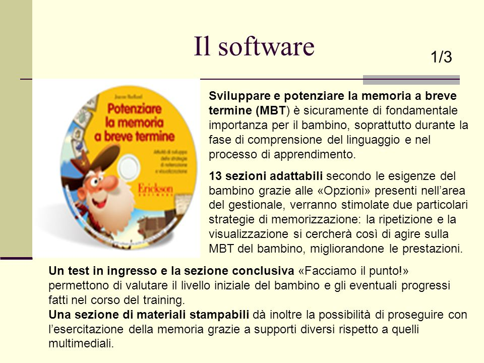 Il software 1/3.