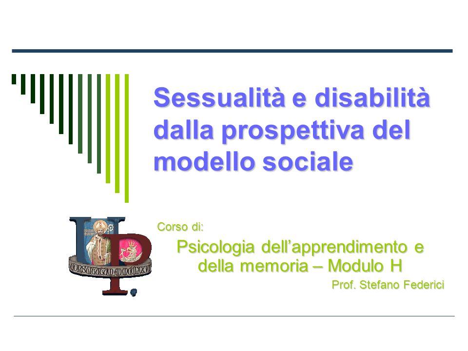 Sessualità e disabilità dalla prospettiva del modello sociale