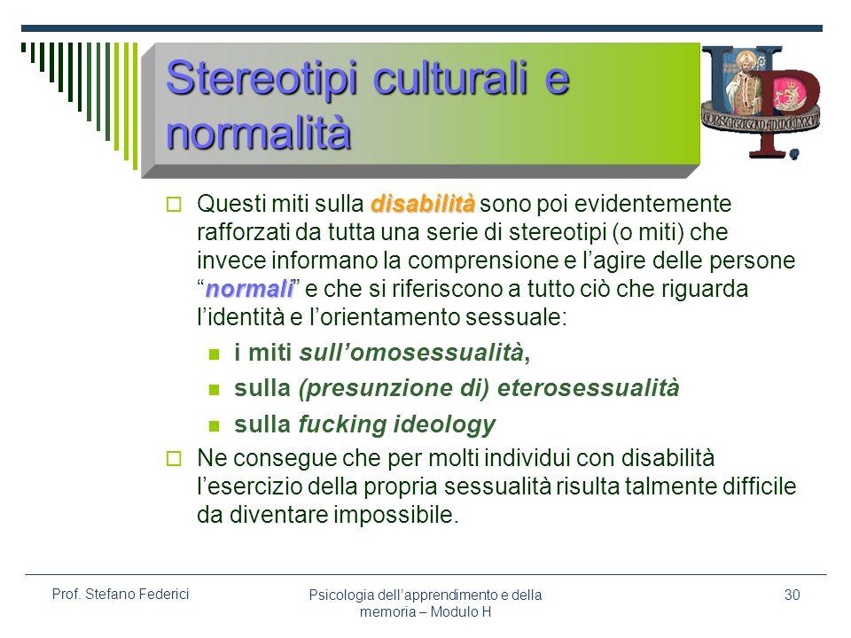Stereotipi culturali e normalità