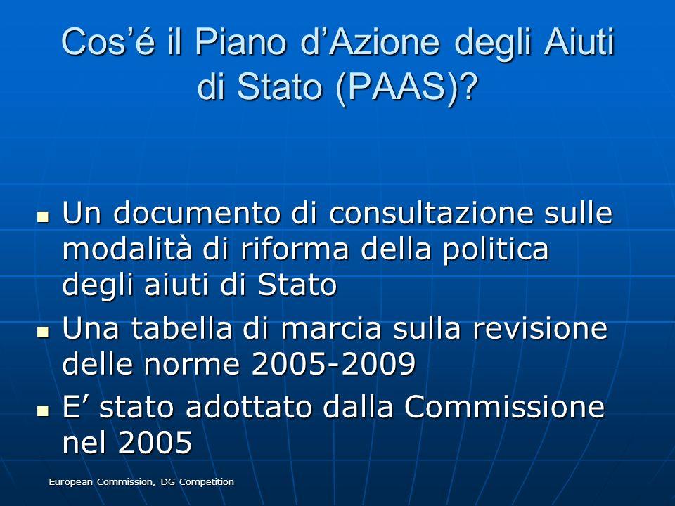 Cos'é il Piano d'Azione degli Aiuti di Stato (PAAS)