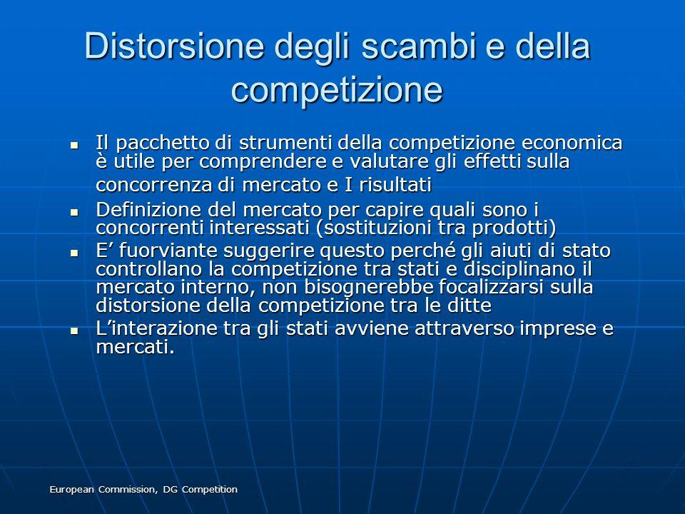 Distorsione degli scambi e della competizione