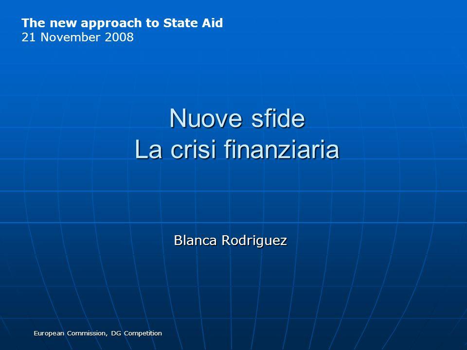 Nuove sfide La crisi finanziaria