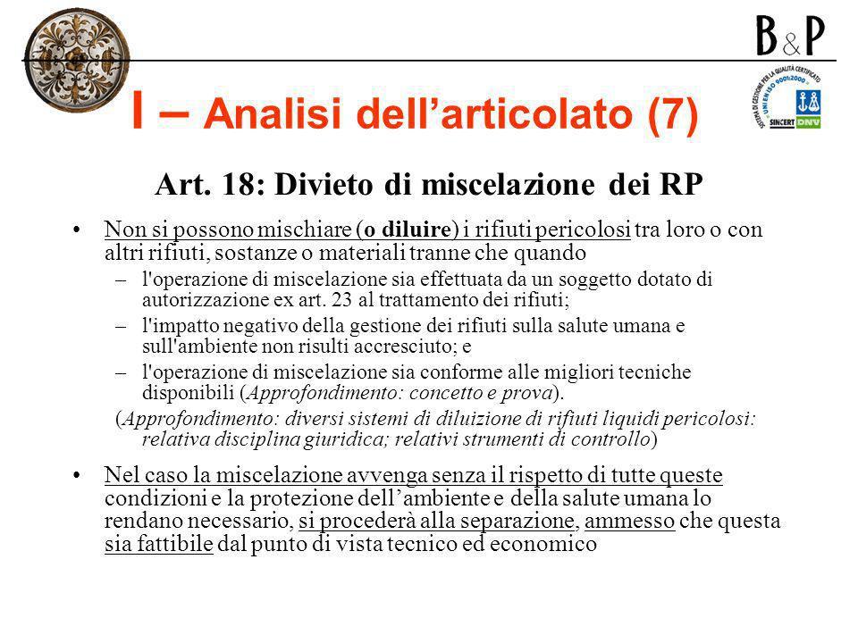 I – Analisi dell'articolato (7)