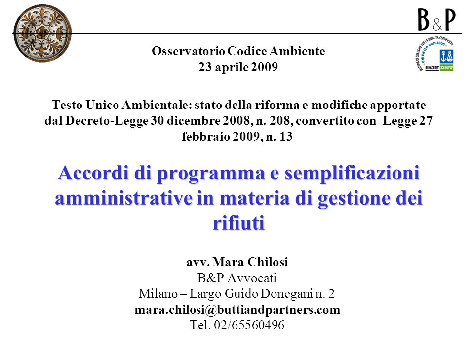 Milano – Largo Guido Donegani n. 2