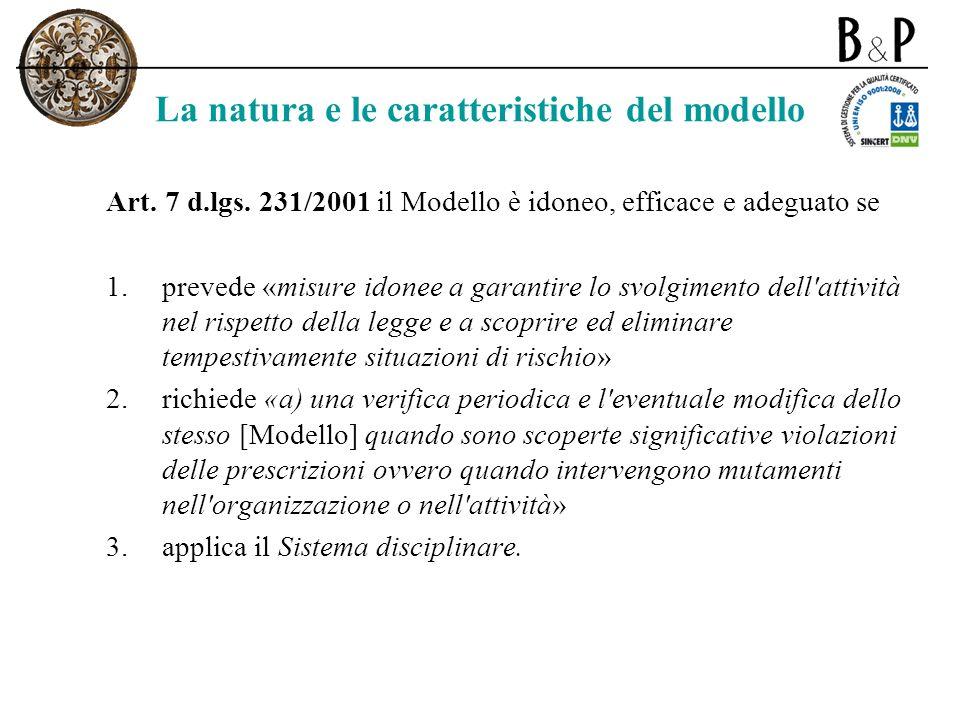 La natura e le caratteristiche del modello