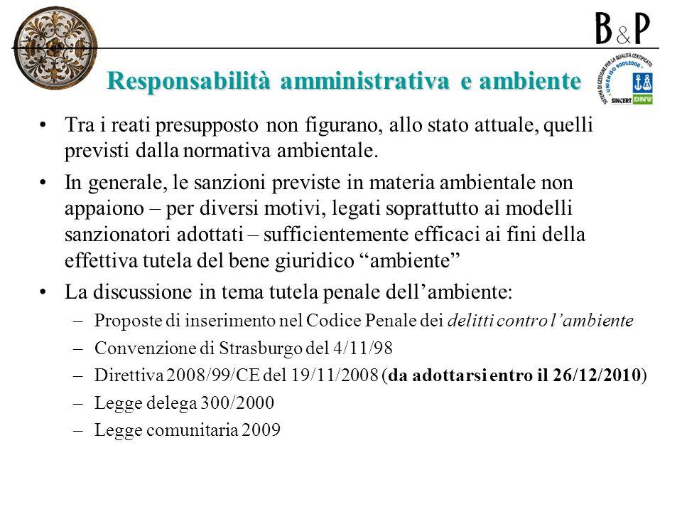 Responsabilità amministrativa e ambiente