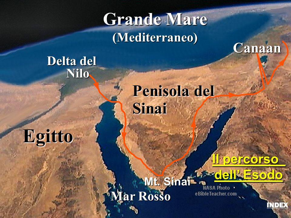 Egitto Grande Mare Penisola del Sinai Canaan (Mediterraneo) Delta del