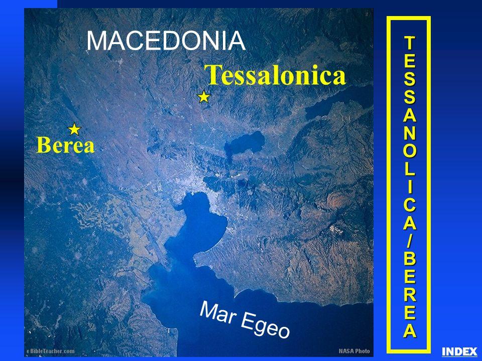 Tessalonica MACEDONIA Berea Mar Egeo T E S A N O L I C / B R INDEX