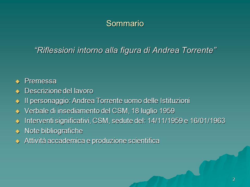 Riflessioni intorno alla figura di Andrea Torrente