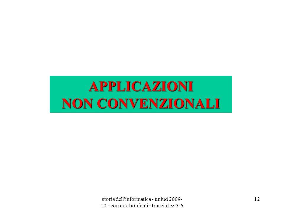 APPLICAZIONI NON CONVENZIONALI