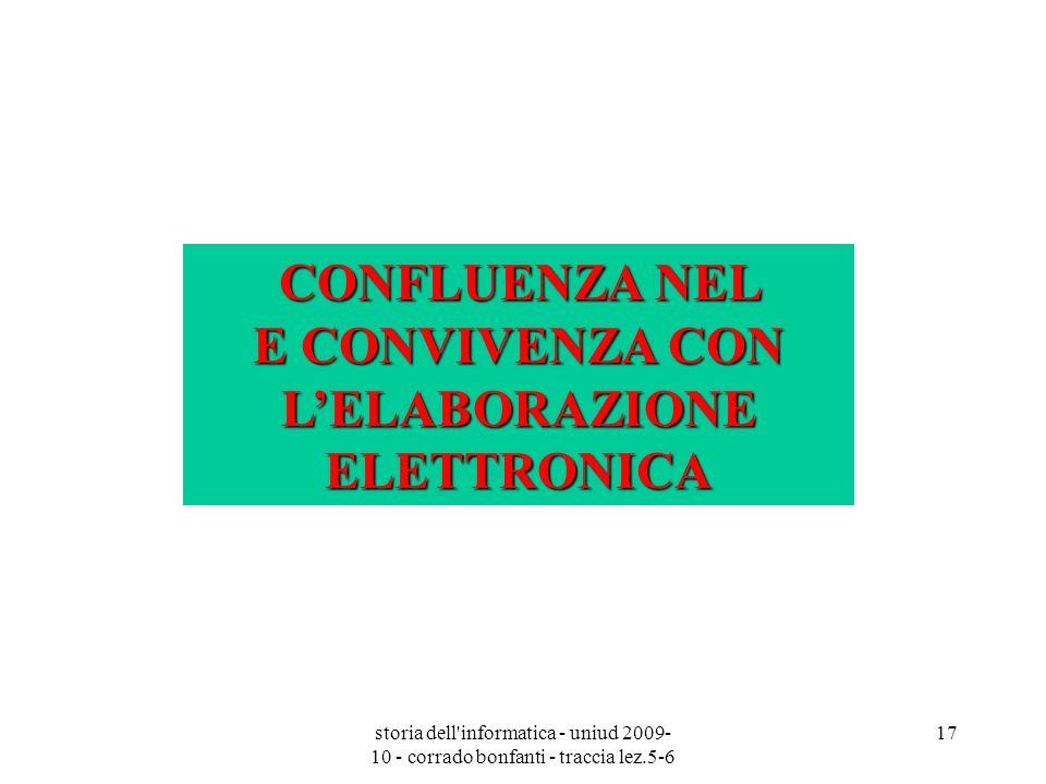 CONFLUENZA NEL E CONVIVENZA CON L'ELABORAZIONE ELETTRONICA