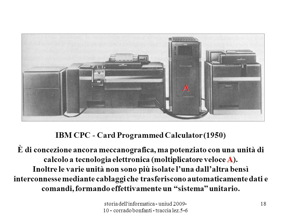IBM CPC - Card Programmed Calculator (1950)