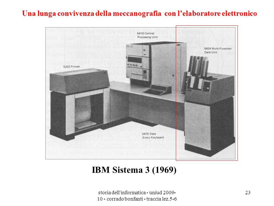 Una lunga convivenza della meccanografia con l'elaboratore elettronico