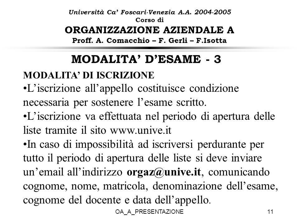 Università Ca' Foscari-Venezia A. A