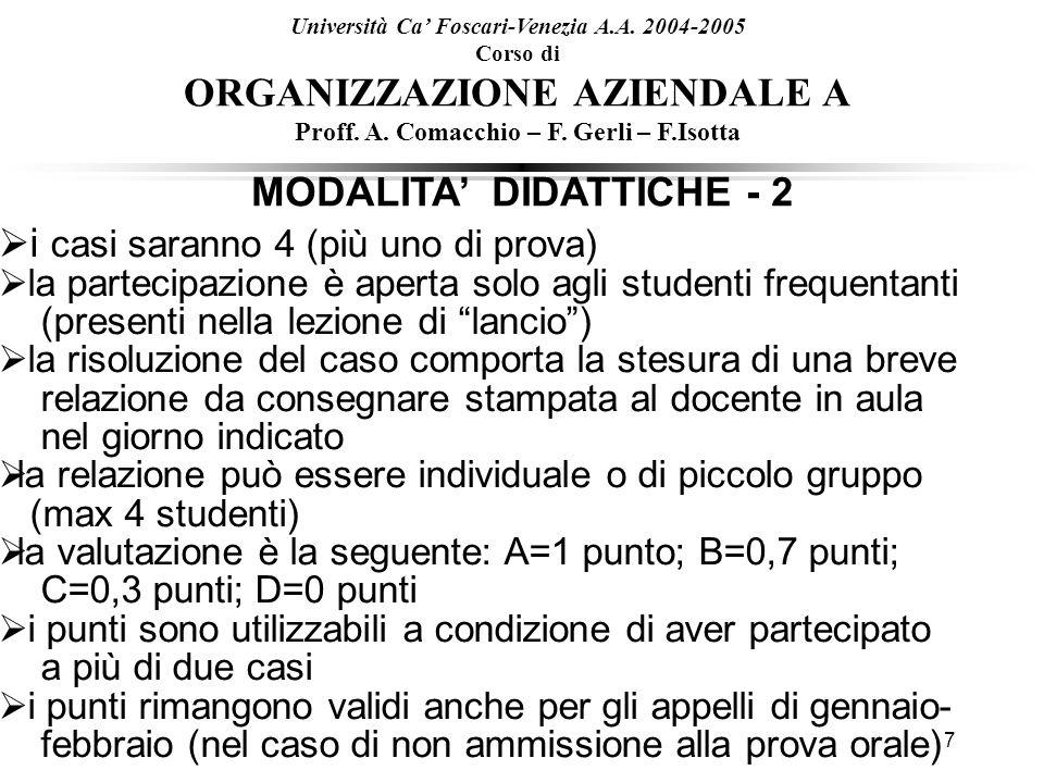 MODALITA' DIDATTICHE - 2